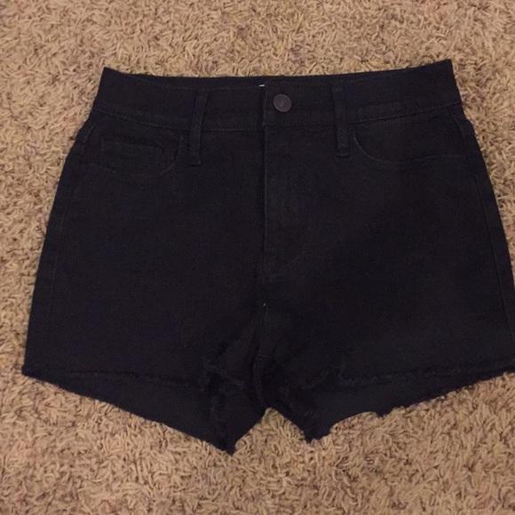 Pants - Black Denim Cutoffs